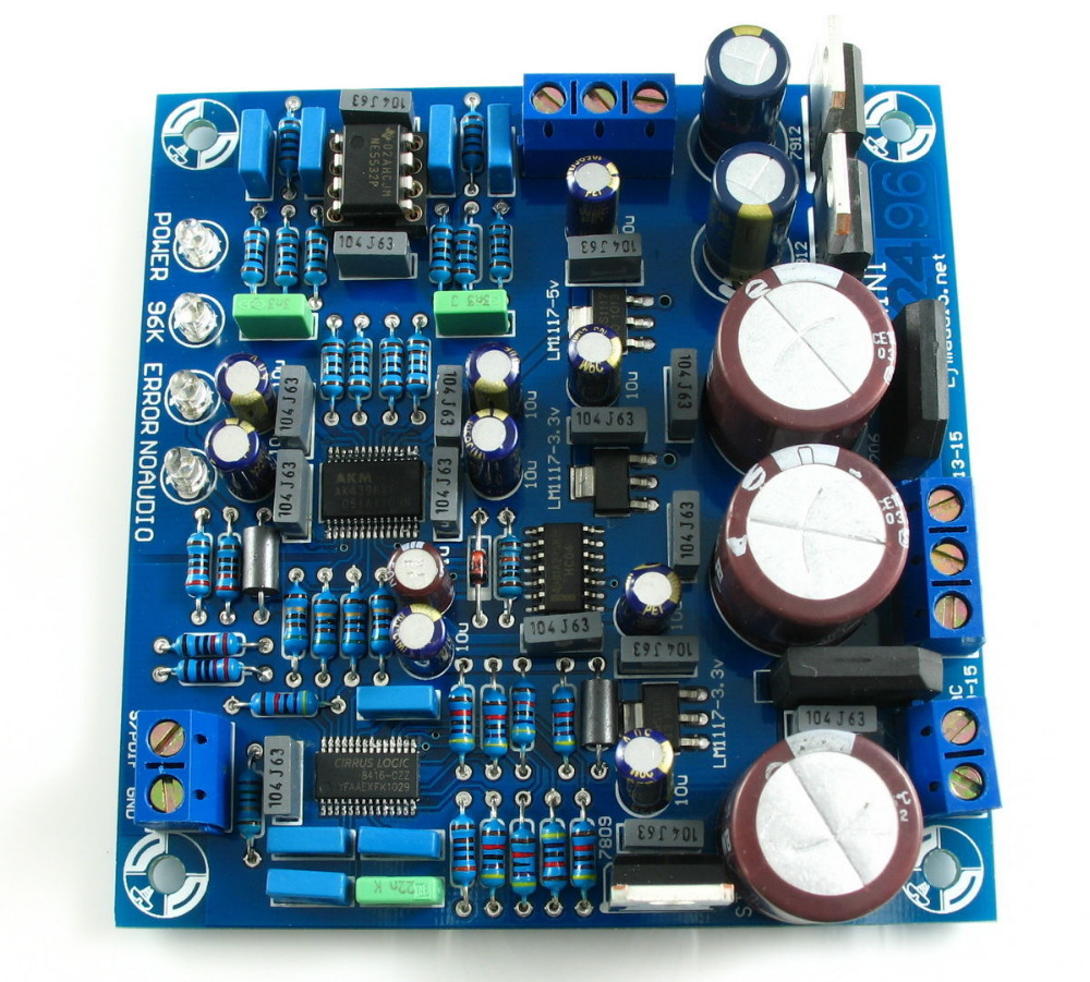US $22 0 |CS8416+AK4396+NE5532P DAC Decoder Board Kit Supports 24BIT/192KHZ  New-in Circuits from Consumer Electronics on Aliexpress com | Alibaba