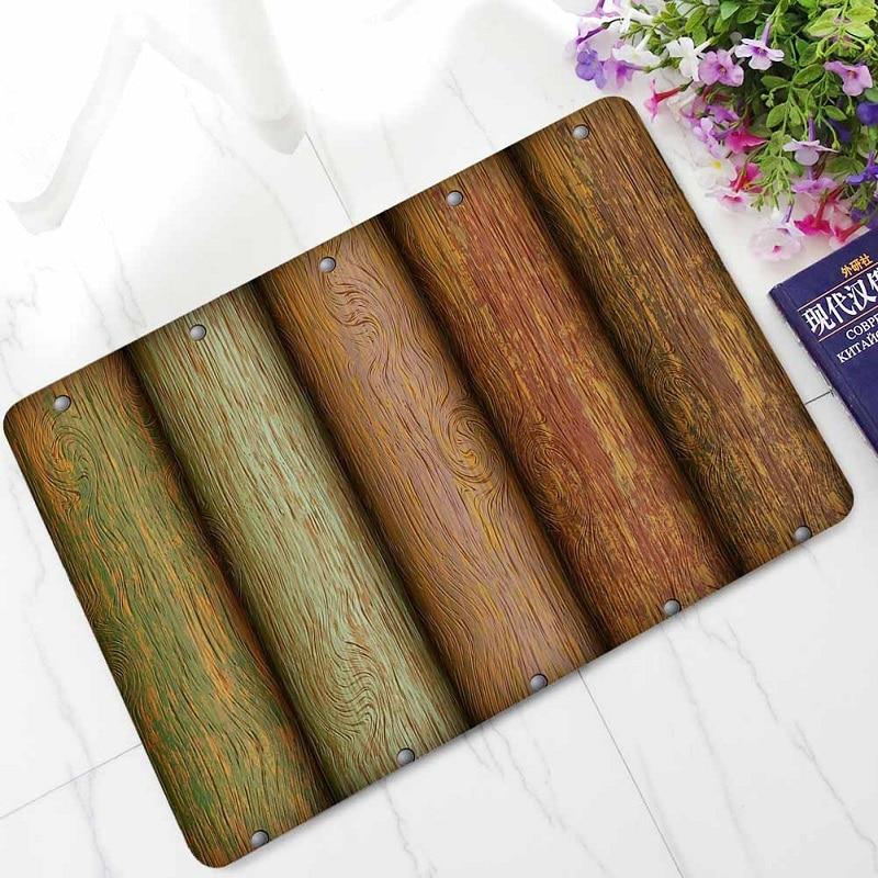 Home Decoration Retro Old Wood Rubber Doormats Non slip ...
