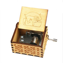 New Antique Carved Wooden Hand Crank Music Box Christmas Gift Birthday Gift Party Casket Anonymity Decoration Anime Music Box цена 2017