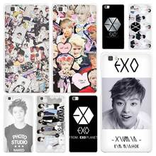 EXO planet White Coque Shell Case Cover Phone Cases for Huawei P7 P8 P9 P10 Lite Mate s 7 8 9(China)
