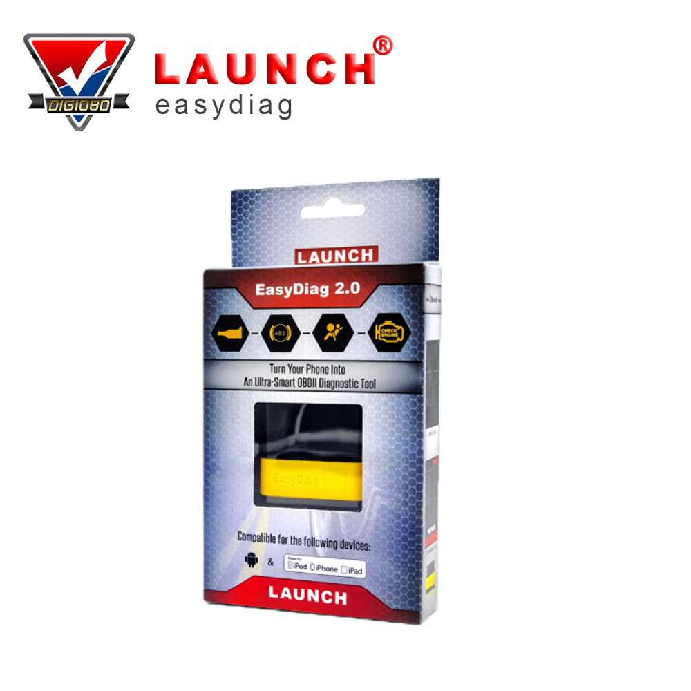 Launch easy diag 2.0 For Android/iOS Original Launch X431 EasyDiag Update by Launch Website 2 in 1 Auto Code Reader launch x431 idiag connector full set package x 431 easydiag adapter launch x431 yellow box without b enz 38 pin adapter in stock