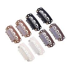 500Pcs 28Mm U Tip Snap Hair Metal Clips Met Siliconen Terug Voor Clip In Hair Extensions,salon Gereedschappen, Clips
