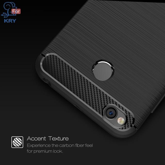 KRY Carbon Fiber Phone Cases For Xiaomi Redmi 4x Case Soft Anti Knock Anti Skid Cover For Xiaomi Redmi 4x Case Capa Coque