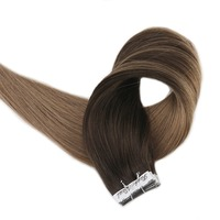 Full Shine Tape in Hair Extensions Balayage Color Seamless 100% Remy Human Tape Hair Extensions 50 Gram Per Package 20 Pieces