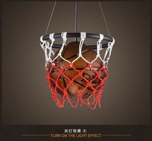 Image 4 - Lampe suspendue au style américain Vintage, luminaire à thème, idéal pour un Bar à thème, un ballon de basket ball ou un ballon de Football, idéal pour la chambre denfant ou la chambre à coucher dun garçon