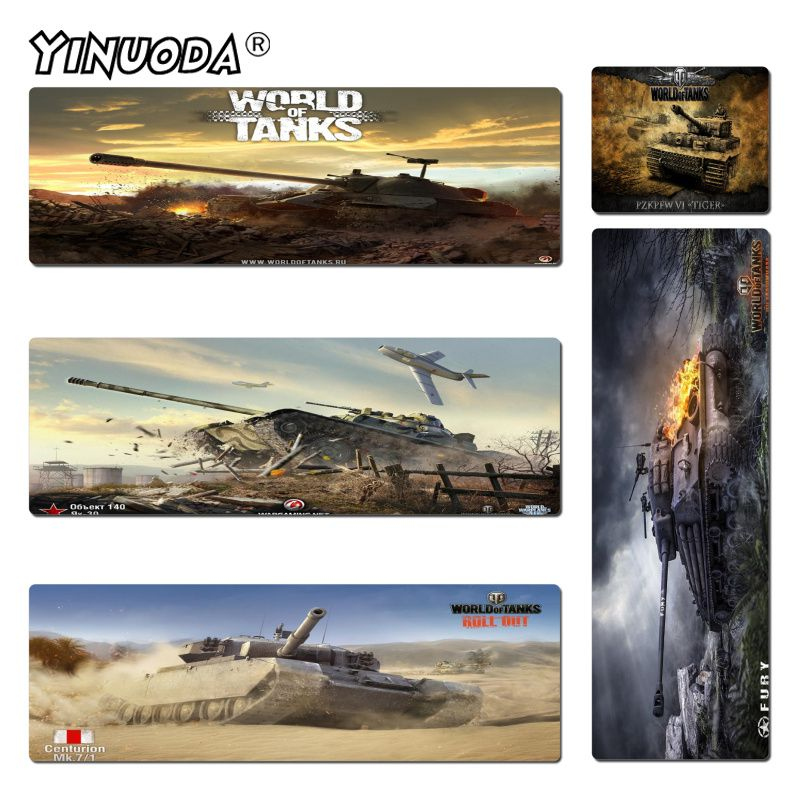 Yinuoda World of-Tanks Wallpaper Rubber Mouse Durable Desktop Mousepad Size for 30x60cm and 40x90cm Gaming Mousepads