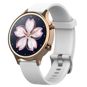 Image 3 - 18mm סיליקון רצועת רצועת השעון עבור Ticwatch c2 Smartwatch עלה זהב גרסה החלפת נשים של צמיד צמיד להקות