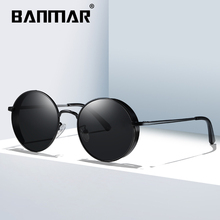 BANMAR Classic Gothic Steampunk Sunglasses Polarized Men Women Brand Designer Vintage Round Metal Frame Sun Glasses UV400 201908
