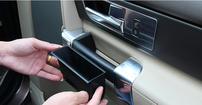 door handle storage box for land rover discovery 4 lr4 2009 2015 car interior accessories in car. Black Bedroom Furniture Sets. Home Design Ideas