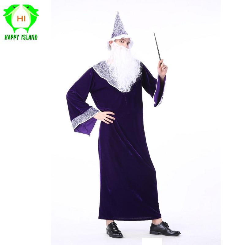 2019 nuevo adulto Hobbit de El Señor de los anillos Gandalf Cosplay traje  para los hombres de mago carnaval Cosplay disfraces en Disfraces fiestas  hombre de ... f65e8be372f