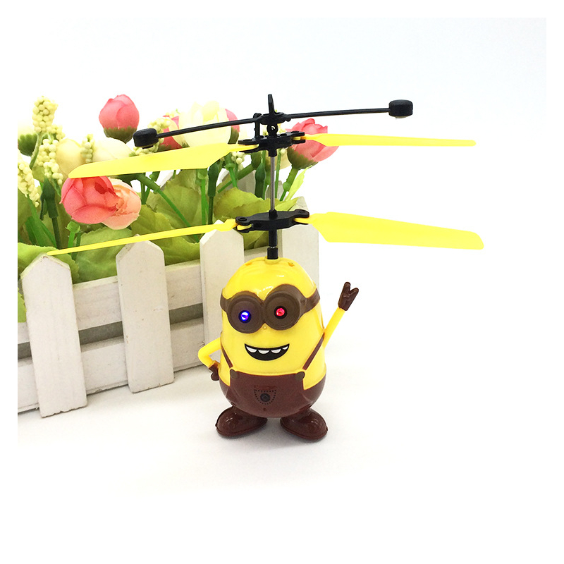 Third Generation RC Helicopter Despicable ME3 Minion Quadcopter Drone Induction Flying Remote Control Aircraft Kids Toys Gift