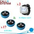Sistema zumbador llamada restaurante 17 bells 2 relojes de pulsera para camarero y cliente CE pasajero