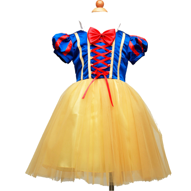 New Summer Girls Snow White Princess Dresses Kids Girls Halloween Party Christmas Cosplay Dresses Costume Children Girl Clothing in Dresses from Mother Kids