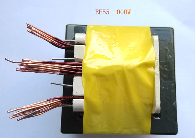 Fast Free Ship Inverter High-frequency Transformer EE55 1000w Vertical Type Transformer