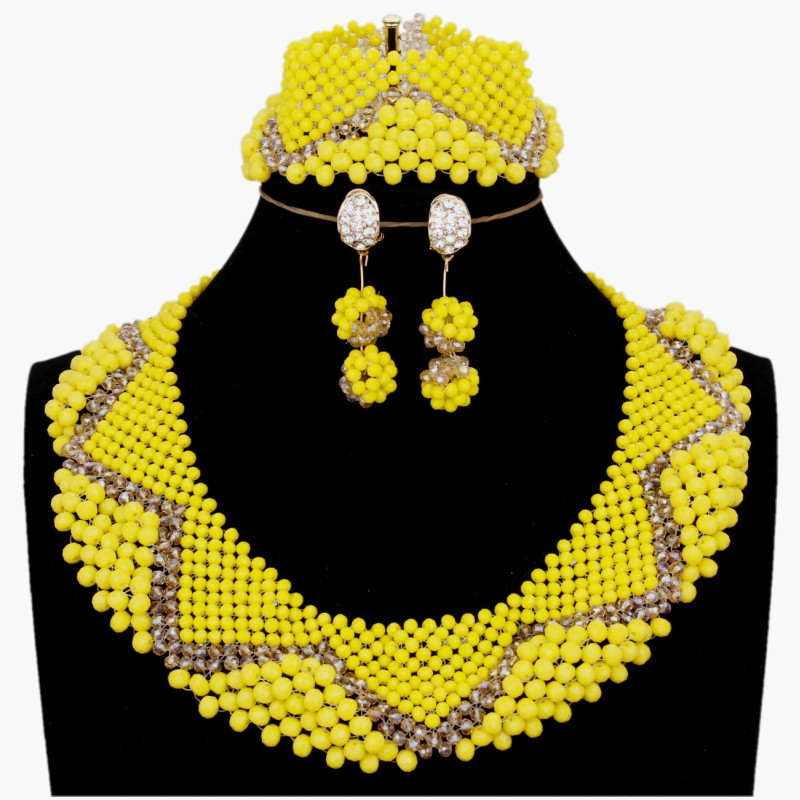 4ujewelry Wedding jewelry Sets For Brides Yellow Gold
