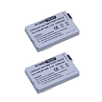 2 piezas BP-208 BP208 CÁMARA DE REPUESTO batería para Canon DC10 DC19 DC20 DC21 DC22 DC40 DC50 DC51 DC95 DC100 DC200 DC201 DC210