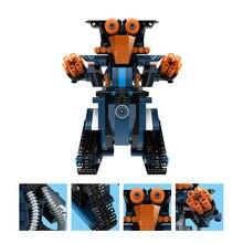 Free Shipping RC Robot MoFun M2 DIY 2.4G 4CH Smart Remote Control Built Block BB13002 DIY Electric Toys Kids Boys Christmas Gift