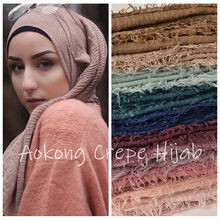 10 pçs/lote mulheres maxi oversize xales wraps cabeça macio longo muçulmano hijabs amasso desgastado prémio crepe hijab lenço de algodão liso