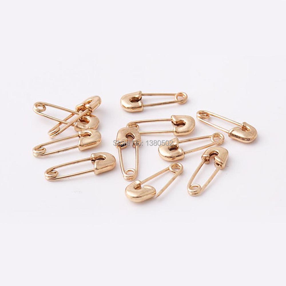 20pcs gold Color safety pins Sewing knitting tool Brooch garment accessories 20*8mm