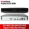 XMEye NVR 4CH Saída de Max 4 K H.265 Gravador De Rede Multi Language CCTV 4CH NVR 5MP 8CH NVR Para H.265 4MP/Câmera do IP H.264 ONVIF