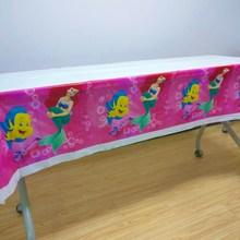 108cm*180cm Mermaid Party Supplies Tablecloth  Kids Girls Cover Ariel Theme Birthday Decoration