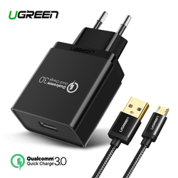 Ugreen USB Charger 18W Quick Charge 3.0 Mobile Phone Charger for iPhone Fast QC 3.0 Charger for Huawei Samsung Galaxy S9+ S8+