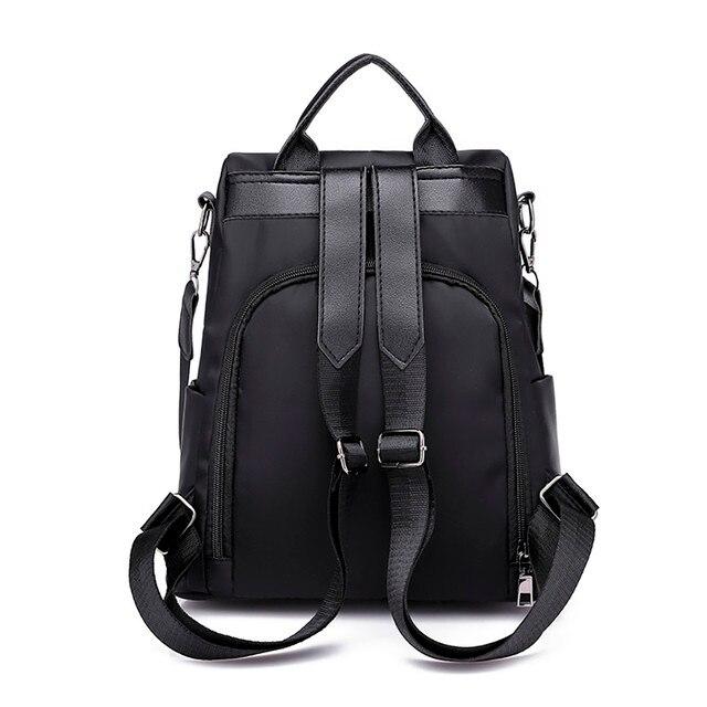 Hot Sale Women Travel bag anti-theft Oxford cloth backpack Large Capacity Casual Backpacks Unisex Black Backpacks#5 1