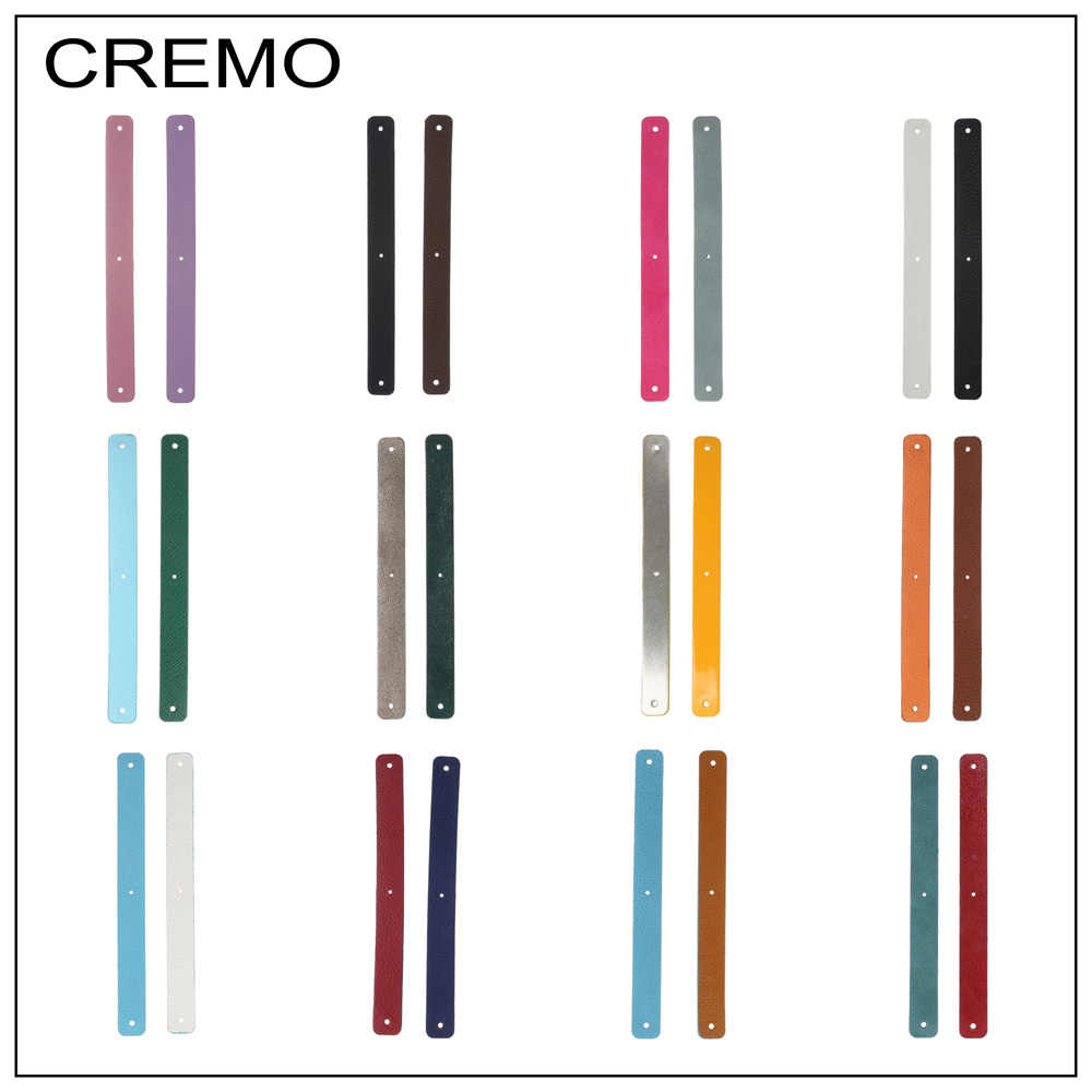 Cremo 1/piece 14mm Leather Band Reversible Stainless Steel Bracelet Leather Jewelry Personalized Colours Women Handmake Bangle
