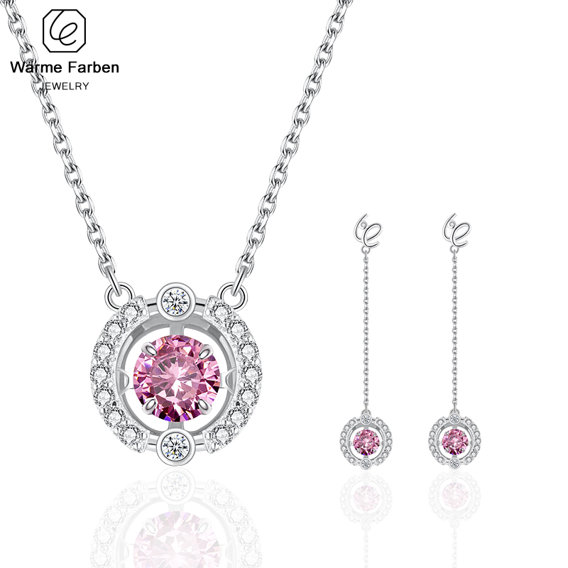 925 Sterling Sliver Jewelry Set for Women Beating Zircon Pendant Swarovski Necklace Drop Earring Set Girls Birthday Gift925 Sterling Sliver Jewelry Set for Women Beating Zircon Pendant Swarovski Necklace Drop Earring Set Girls Birthday Gift