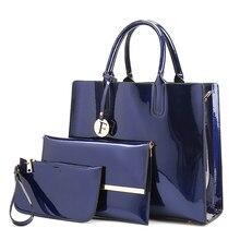 3pcs Women Handbag Set Leather Fashion Shoulder Crossbody Bags For Messenger Ladies Clutch Big Handbags Composite Bag