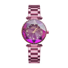 Luxury Brand Ladies Crystal Watch Women Dress Watches Fashion Rose Gold Quartz Female Stainless Steel Wristwatches