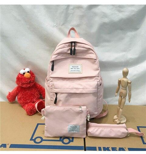HTB12Gl6XHH1gK0jSZFwq6A7aXXaG Nylon Backpack Women Backpack Solid Color Travel Bag Large Shoulder Bag For Teenage Girl Student School Bag Bagpack Rucksack
