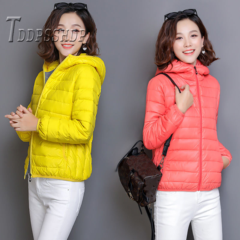 2019 Candy Color Women   Parkas   Long Sleeve Winter Warm 9 Color Can Choose Female Coat Jacket