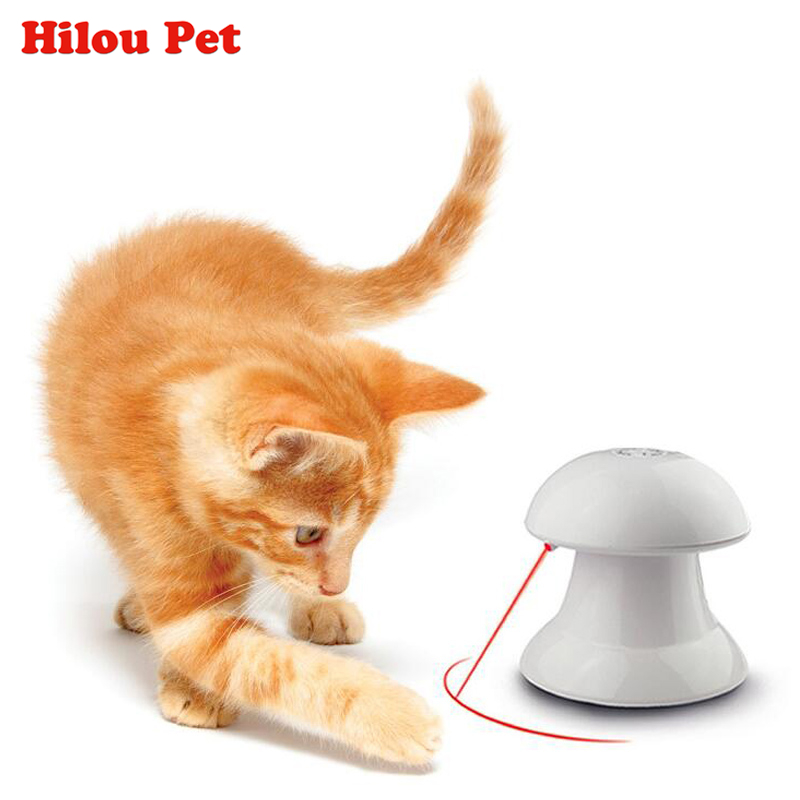 360 Degree Automatic Interactive Dart Laser Light Exercise Teaser Fun Exercise Pet Puppy Toy For Cat Dog Funny