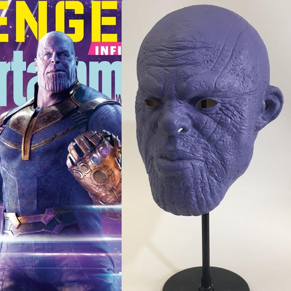 Avengers 3 Infinity War Thanos masque Cosplay Latex casque super-héros Avengers Thanos masques Halloween fête accessoires livraison directe