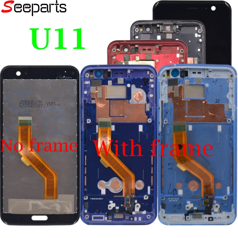 For HTC U11 LCD Display Touch Screen Digitizer Assembly 5.2 Mobile Phone Replacement Repair Parts For HTC U11 U-3w U-1w U11 LCD