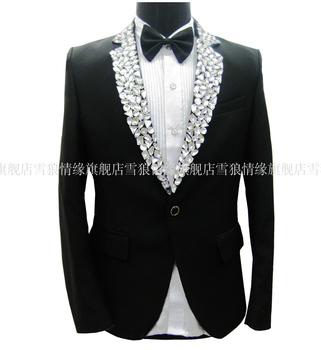 2020 Men's Fashion Korean Version Men's Brand Dress Wedding Suits Gentleman Groom Dress Suit Costumes Clothing (suits + Pants )