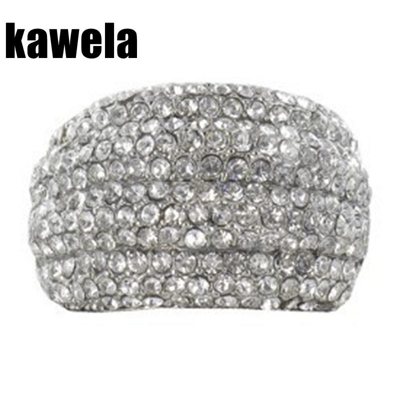 Free Shipping New Stretched Crystal Ring
