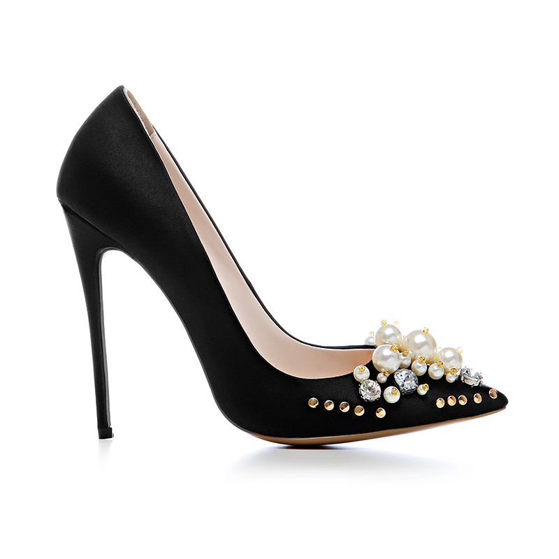 bd61aa79e6e9 Original Intention Gorgeous Women Pumps Pointed Toe Thin Heels Pumps  Elegant Black Gold Silver Shoes US Size 3.5-10.5. Please Refer to Our  Sizing Info When ...