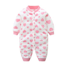 416b78841 BibiCola baby girls spring autumn jumpsuits newborn baby flannel velvet  long sleeve romper for bebe girls
