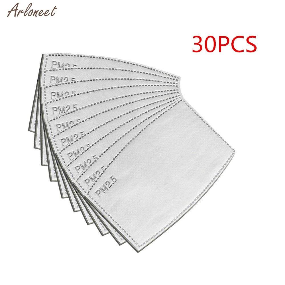 Precio Barato 30 Piezas Pm2.5 N95 Filtro De Carbono Activado Cara Máscara De Respiración Insertar Protección Anti Niebla Máscara De Boca Reemplazable Filtro De Filtros