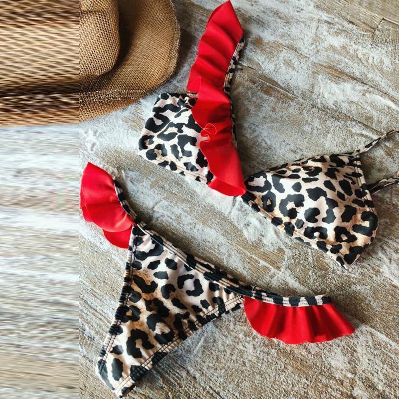Yoga Socks Bright High Waisted Bathing Suits Red Leopard Sexy Thong Brazilian Bikini Push Up Swimwear Women Swimsuit Monokini Bikinis 2019 Mujer Consumers First