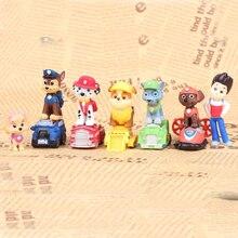 12 шт. щенок Лапы «Щенячий патруль», «Щенячий патруль» для собак плюшевая кукла аниме фигурки игрушечный автомобиль с принтом в виде героев мультфильма «игрушечные собаки для детей D08