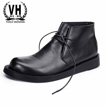 Riding shoes men's casual high top lace Genuine leather bottom men boots soft autumn winter British retro all-match cowhide male autumn and winter new top layer cowhide leather high top skateboard shoes sen female art retro flat boots