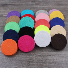 30yards/lot 5/8 (16mm) 20colors Shiny Solid Fold Over Elastic Ribbon FOE for Headbands Hair Ties Hairbow