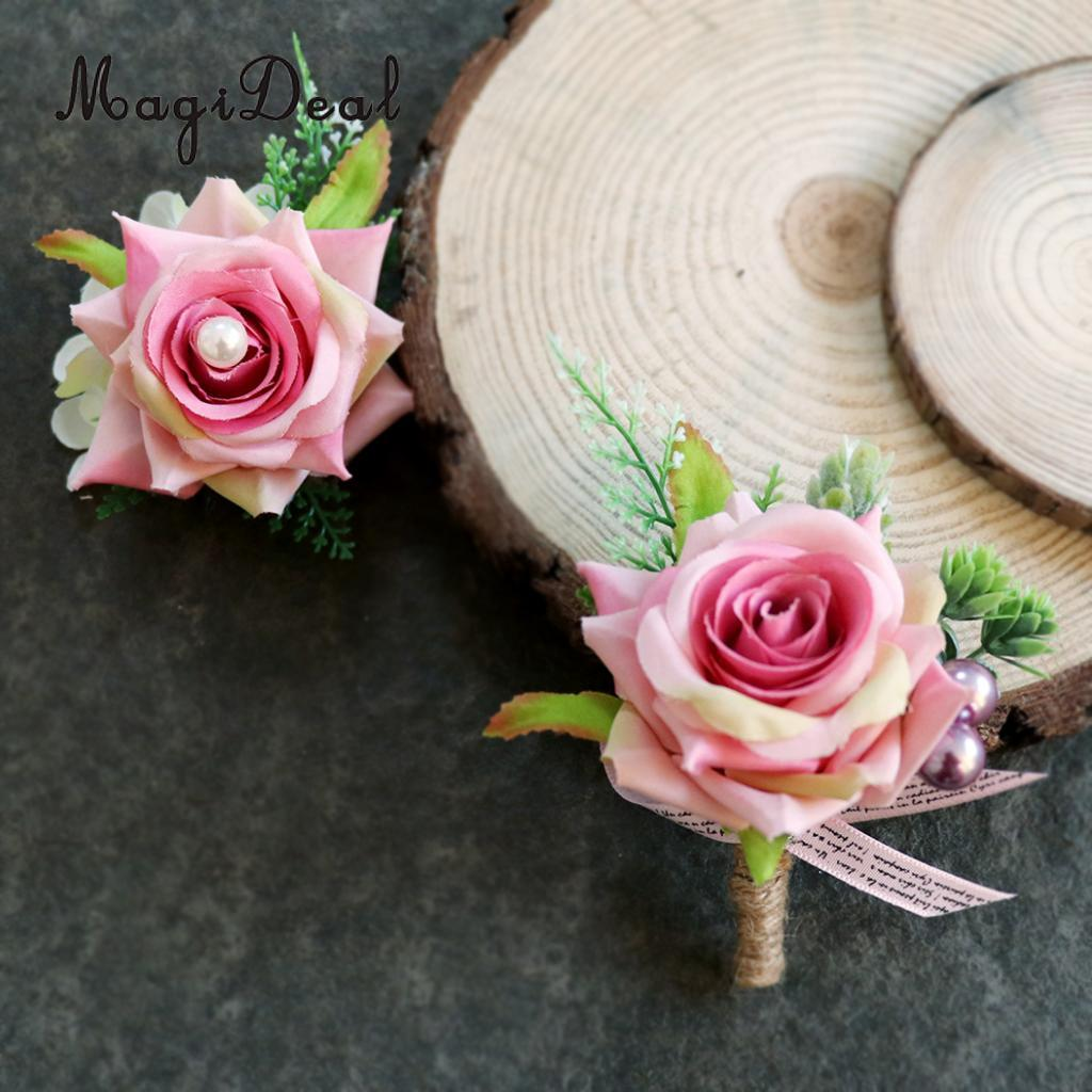 Magideal Beautiful Romantic Wedding Party Rose Silk Flower