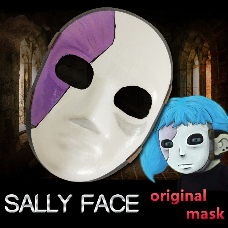 2019 New product Game Sally Face Cosplay Mask Sally Masks and wig Sallyface Cosplay Costume Accessories high quality Props