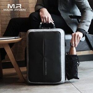 Image 2 - Mark Ryden mochila antirrobo con recarga USB para hombre, morral con diseño de bloqueo TSA sin llave, a la moda, para negocios y viajes