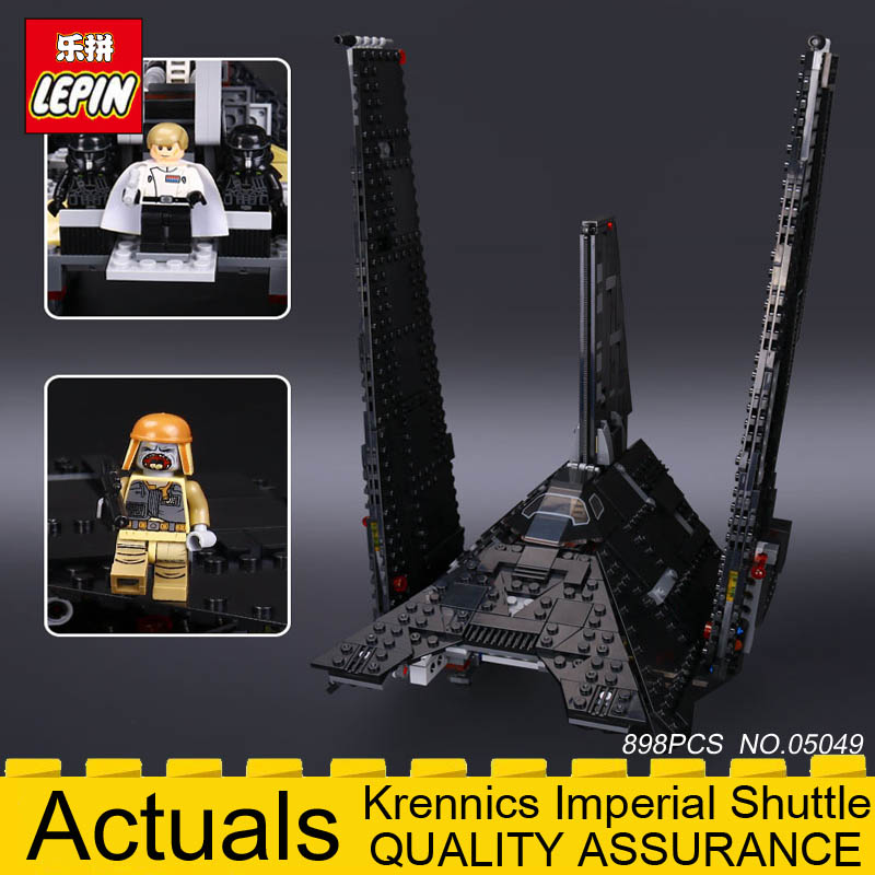 Nova 898Pcs Lepin 05049 Star Series Wars Shuttle Building Blocks Self-locking Bricks DIY Educational Toys Compatible with 75156 95pcs happy town building blocks diy early learning baby girls toys self locking bricks educational toys compatible with duplo