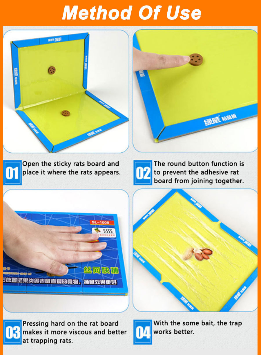 21x30CM Non Toxic Mouse Trap with Strong Glue to Stick Rats and Insects for Pest Control 13